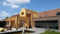 Création d'une extension bois à Merville par l'agence Cedric Demol Architecture.