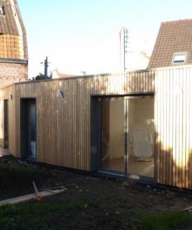 Construction d'un cabinet paramédical en ossature bois.