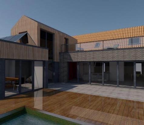 Extension d'une maison individuelle en ossature bois de 70 m².